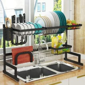 8. PUSDON 3 Tier Over Sink Dish Drying Rack