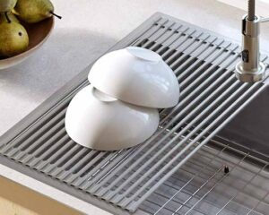 1. Kraus KRM-10 GREY Silicone-Coated Stainless Steel Over The Sink