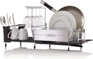 4. 4. Sabatier Expandable Stainless Steel Dish Rack
