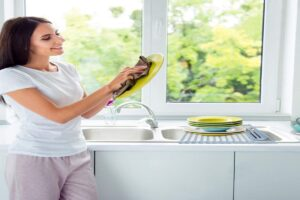 how to keep your dish rack clean