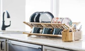 Totally Bamboo Eco Collapsible Bamboo Dish Drying Rack