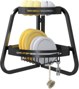 Apsan Over The Sink Dish Drying Rack, 2 -Tier Dish Rack
