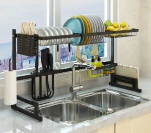 9. HOME KEY Over The Sink Dish Drying Rack