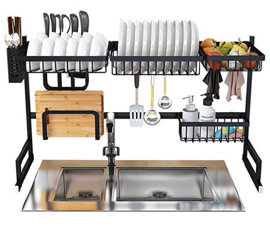 WSZZF311 Stainless Steel Ovewr the sink dish drying rack